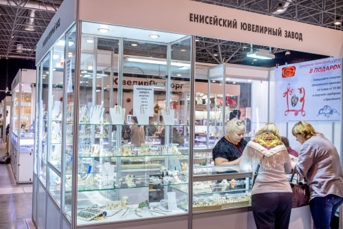 """Every visitor here is in tune for buying something,"" says Rais M. Nurislamov, Director of Yenisei Jewellery Factory, about Jewellery Siberia"